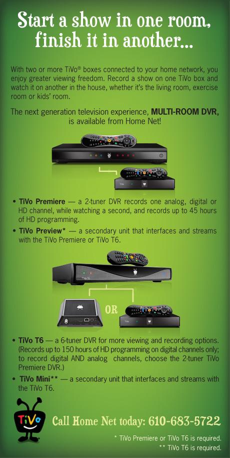 TiVo Premiere and TiVo T6 DVRs
